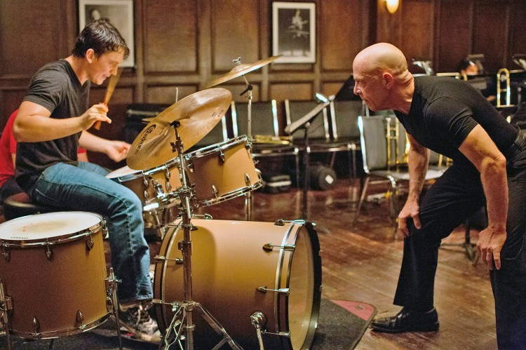 Left to right: Miles Teller as Andrew and J.K. Simmons as Fletcher Photo by Daniel McFadden, Courtesy of Sony Pictures Classics